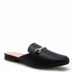 Shoes - Black slip on / mule loafers